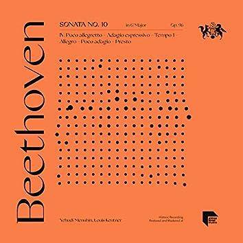 Beethoven: Sonata No. 10 in G Major, Op. 96: IV. Poco allegretto - Adagio espressivo - Tempo I - Allegro - Poco adagio - Presto