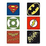 Logoshirt Untersetzer Set DC Comics Mix Coaster Justice League multi - ca 10 cm x 10 cm