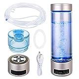 Saikun Portable Hydrogen Water Bottle Rechargeable PEM Technology Ionized Water Generator, Hydrogen Water Machine Hydrogen Generator (600-900PPB)