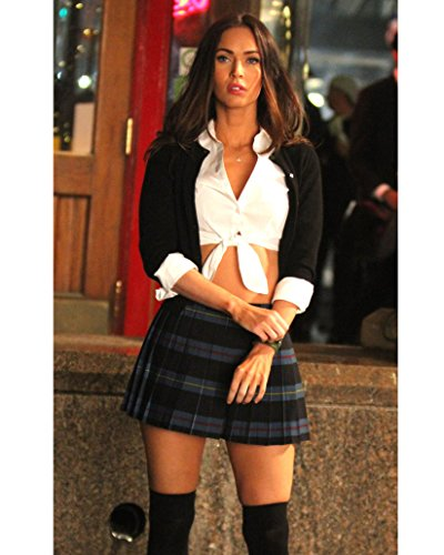 Megan Fox modeling schoolgirl outfit and stockings shot 8 inch by 10 inch PHOTOGRAPH TL