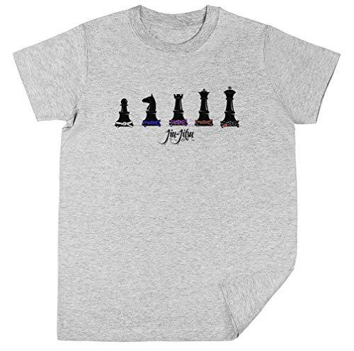 Wigoro Humano Ajedrez Niños Unisexo Chicos Chicas Gris Camiseta Kids Unisex T-Shirt