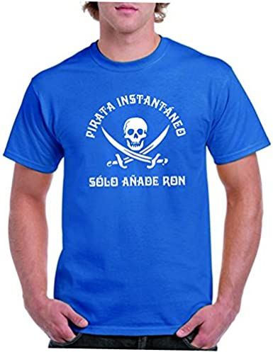 Camisetas divertidas Parent Pirata instantaneo Solo añade Ron ...