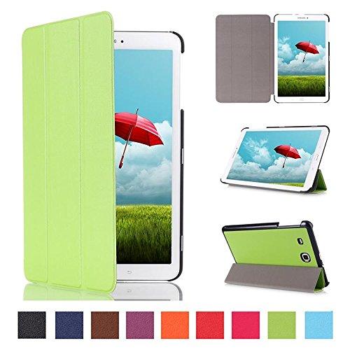 Beebiz Custodia per Tablet Samsung Galaxy Tab E 9,6, Smart Cover, con Custodia di Protezione a Libro per Samsung Galaxy Tab E 9,6'T560 T561-Custodia in Pelle Sintetica, con Funzione di Supporto Verde