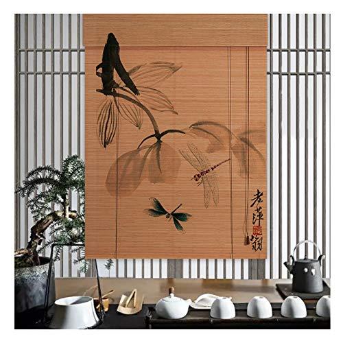 Persiana Bambú, Cortina Decoración Hogar, Utilizada para Sombrear Al Aire Libre, División Sala Estar, Ventilación, Fácil Usar, Varios Tamaños PENGFEI (Color : B, Size : 130cmX160cm)