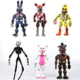Set of 6 pcs   in Stock US  Set Freddy's Five Nights PVC - Inspired Action Figure 17cm Bonnie Foxy Freddy Toys 5 Fazbear Bear Doll Baby Toys FNAF Action Figures Toy Set - Gifts for Kid (A1 Set(6pcs))