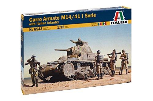 Italeri 6543 - Carro Armato M14/41 With Italian Infantry modellismo Model Kit Scala 1:35