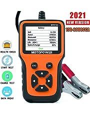 MOTOPOWER MP0515A 12V Auto Batterij Tester Automotive 100-2000 CCA Batterij Load Tester Auto Cranking en Opladen Systeem Test Scan Tool Digitale Batterij Alternator Analyzer