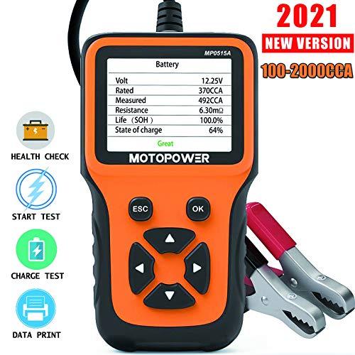MOTOPOWER MP0515A Tester del carico della batteria dell'auto 12V e analizzatore dell'alternatore