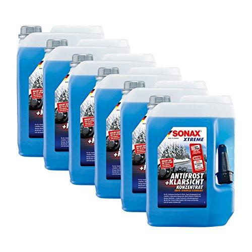 SONAX 6X 02325050 Xtreme AntiFrost+KlarSicht Konzentrat Scheiben Frostschutz 5L