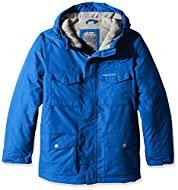 """25"""" length 6 pockets; 2 bellowed stud fastening, 4 fastening chest Grown on hood with mock waxed cord adjusters to front Fastening stormflap with inner zip guard Self fabric fastening cuss adjusters Sporty style from Chevron overlay DWR (durable, wat..."""