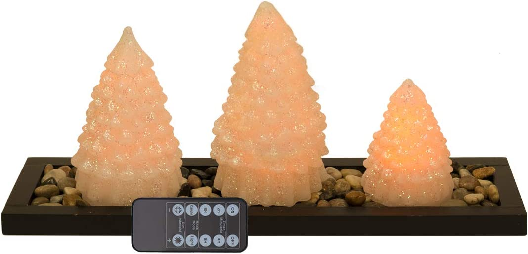 Flameless Candles Battery Operated 送料無料/新品 Set of 海外並行輸入正規品 Real Wax Wit 3