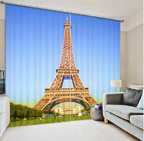 MUXIAND 3D ijzeren gordijnen toren afdrukken fancy blackout venster gordijnen voor woonkamer slaapkamer gordijnen gordijnen aangepaste grootte