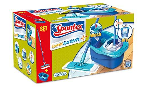 Spontex - Set de Limpieza Express System+ - Mopa, Recambio y Cubo