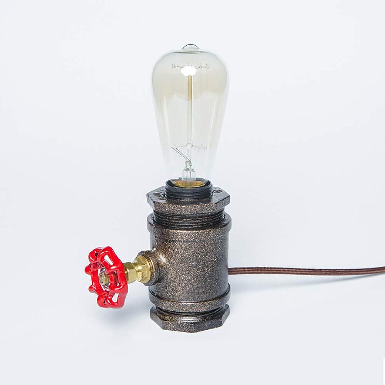 WDFZDD Tischlampe, Schmiedeeiserne Tischlampe, Eisen Farbe, Dimmbarer Schalter, Mit Edison Glühbirne, 110V  240V, 40W, Bestrahlungs Bereich 7M2, Unterhaltung Und Freizeitplatz B07GDN68HQ     | Schön In Der Farbe