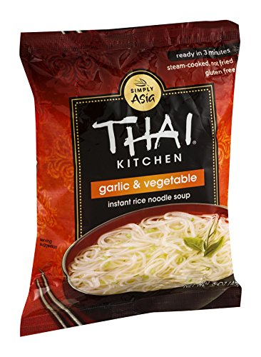 Thai Kitchen Instant Rice Noodle Soup, Garlic and Vegetables, 1.6-Ounce Unit (Pack of 12)