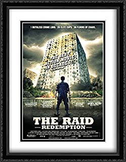 The Raid: Redemption 28x36 Double Matted Large Large Black Ornate Framed Movie Poster Art Print