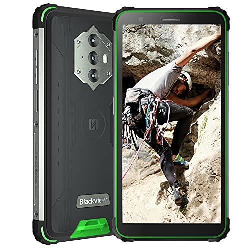 Blackview BV6600 Smartphone ohne Vertrag 4GB + 64GB Octa-Core Android 10 Outdoor Smartphone, 16MP + 8MP Kamera 5,7 Zoll HD+ Display, 8580 mAh Akku Dual SIM 4G Outdoor Handy ohne Vertrag, Grün