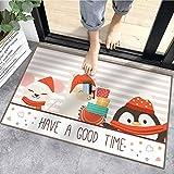 Sunshine smile alfombras de Piso,Anti Slip Baño Alfombras,Welcome Felpudo de Puerta,Tapete de Puerta Navidad con Temas,los Estera (B)