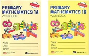 Singapore Primary Math grade 1 WORKBOOK SET--1A and 1B