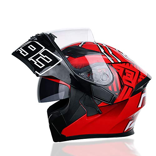 Pn&cc Casco De Choque De Motocross, ECER 22-05 Casco De Motocicleta Modular Abierto Frontover Aprobado Casco Completo Abierto/Serie 93,B,M
