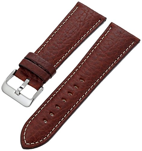 MS-906 Brown 22mm Hadley-Roma Men's Genuine Leather Watch Band