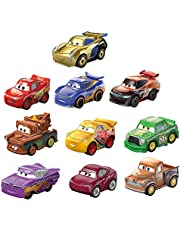 Disney Cars Pack 10 coches mini de juguete de carreras, para niños +3 años (Mattel GKG23)