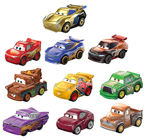 Disney and Pixar Cars Mini Racers Derby Racers Series 10-Pack, Small Metal Movie Vehicles for Competition and Story Play, Wide Character Variety, Authentic Details??