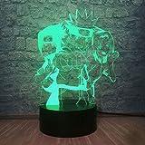 Dalovy Festival 3D Lámpara de Ilusión Led Luz de Noche Hot Japanese Amine Naruto Figura de Dibujos Animados Uzumaki Naruto Haruno Sakura Friend Comic Sensor Regalo Creativo