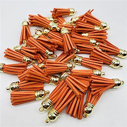 8 unids/lote de cuero Trim flecos borla costura cortinas Accesorios DIY llavero correas de teléfono móvil colgante borlas para joyería Making-07