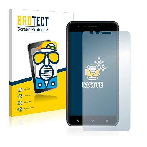 BROTECT 2X Entspiegelungs-Schutzfolie kompatibel mit Asus ZenFone Zoom S ZE553KL Bildschirmschutz-Folie Matt, Anti-Reflex, Anti-Fingerprint