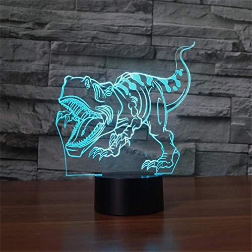 MTX Ltd Nuit Lumière Créative Coloré Petit Dinosaure LED Nuit Lumière Tactile 3D Stéréo Lampe de Chambre Chambre Rêve Enfants Lampe de Chevet