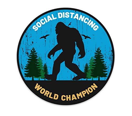 Bigfoot Sasquatch Social Distance Vinyl Decal