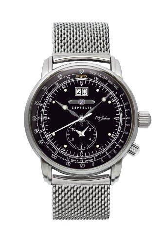 Zeppelin Herren-Armbanduhr 100 Jahre Analog Quarz Edelstahl 7640M2