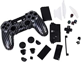 KESOTO Full Housing Cover Case Skin Set +Gamepad Buttons & Touchpad & Joystick Thumbstick Caps Pad for PlayStation 4 Wirel...