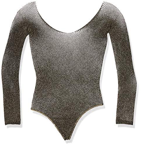 LEG AVENUE Damen Dessous-Set, Black, Gold Lurex, One Size (2er Pack)