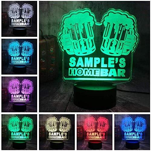 3d illusion lamp Biere kinder nachttischlampe led-16 Farben ändern sich-Schwarze Basis