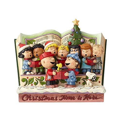 Enesco Jim Shore Peanuts Christmas Storybook Figurine 7.5' Multicolor