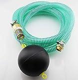 10m PVC Spiral- Saugschlauchgarnitur mit schwimmendem Ansaugfilter und 1' AG Anschluss
