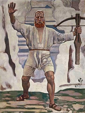 Kunstdruck/Poster: Ferdinand Hodler Wilhelm Tell - hochwertiger Druck, Bild, Kunstposter, 65x85 cm