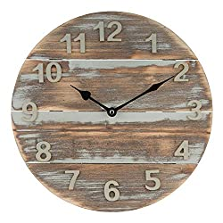 Lacrosse 404-3430W 12 Quartz Wood Panel Wall Clock, Brown