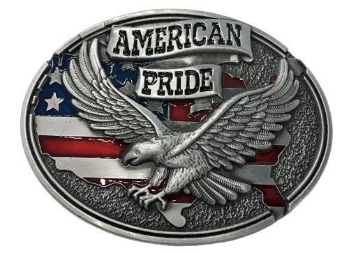 Ivory Falcon American Pride Belt Buckle