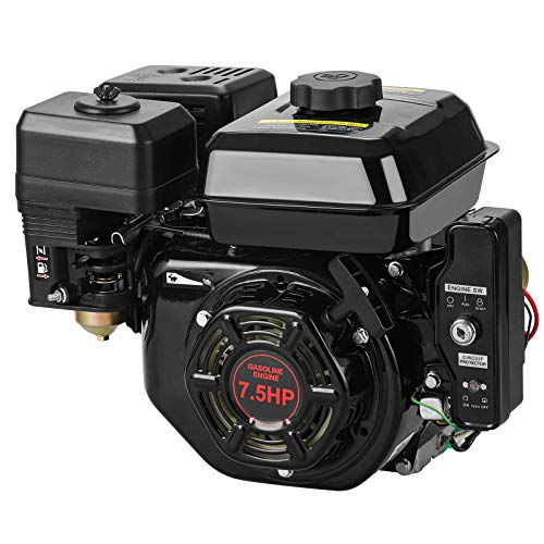Anbull 7.5 HP 210CC Electric Start Gas Engine Horizontal Shaft 3/4' x 3.88' for Go Kart Log Splitter 4-Stroke Electric Start Engine Gas Powered Gasoline OHV Motor EPA Approved