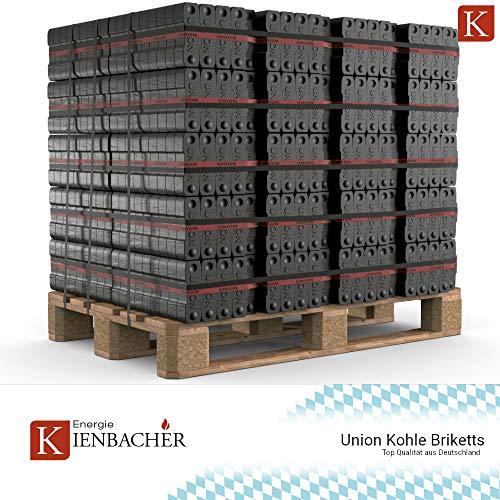 150 kg - 1200 kg Briketts Union Kohle Brikett Kamin Ofen Heizbriketts im 25 kg Bündel TOP Gluthalter (1200)