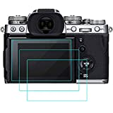 QIBOX Screen Protector Compatible with Fujifilm X-T3, 3-Pack Tempered Glass Screen Protection LCD...