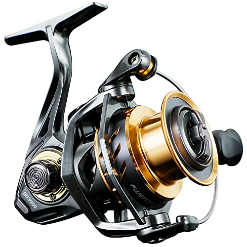 PLUSINNO GG Fishing Reel, High Speed Spinning Reel with 5.1:1 - 5.7:1 Gear Ratio, 22-30 LB Powerful Drag System, 9+1BB, Aluminum Spool for Fresh Water and Saltwate GG3000