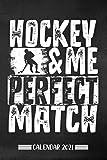 Calendar: Hockey calendar 2021 | calendar & notebook| gift for hockey fans| 6x9 format (15,24 x 22,86 cm)