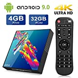 TV Box Android 9.0 A95X 4GB+32GB RK3318 Quad-core Cortex-A53CPU WiFi 2.4G/5GHz Bluetooth 4.2 Ethernet 100M H.265 Android 9.0 Smart TV Box