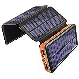 Caricabatterie Solare 25000mAh, Banca di Potere di 3A Carica Rapida, Portatile...