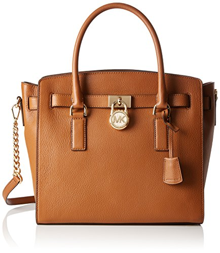Michael Kors 30S7GHMS7L Womens Hamilton Satchel Brown (Acorn)
