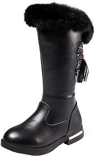 LOBTY enfants bottes de neige imperméables pour filles garçons bottes d'hiver bottes d'hiver doublées chaudes antidérapantes